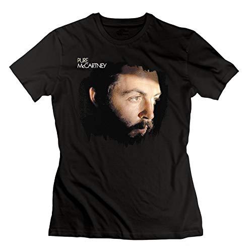 (JohnHA Women's Paul McCartney Pure McCartney Casual T-Shirt Black XL)