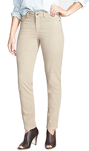 Khaki Ankle Pants (NYDJ Beige Women's Slim Skinny Ankle Stretch Jeans (4))