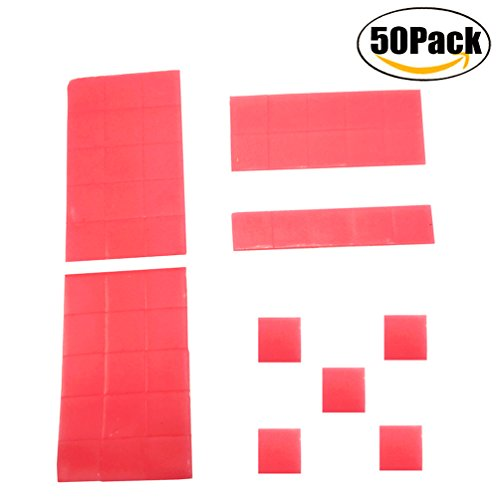 COOLOOdirect 50pcs 2x2cm Diamond Painting Embroidery Set Cross-Stitch Tool Blockage Plaster DIY Painting Glue Clay