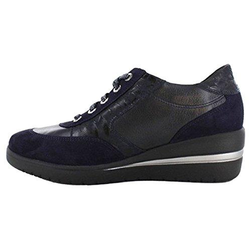 Mobils Shoes Navy Leather Patrizia Womens wqHSp