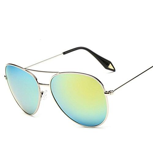 Marco Lente protecciónn amp; Vintage amp;Gafas Gafas Color de X9 4 Gafas Película personalidad de Gran de 7 polarizada sol Gafas Espejo Zq6xErZ4