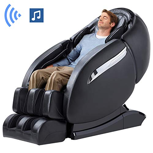 Ootori Massage Chair Recliner, Zero Gravity Massage Chair, Full Body Massage Chair with SL Double Track, 3D Robot Hands, Yoga Stretching, Bluetooth Speaker& Air Massage (Black)