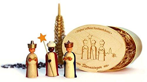 Miniatures star Singers in the splinter box, colored 12,5cmx8cm h=5cm NEW