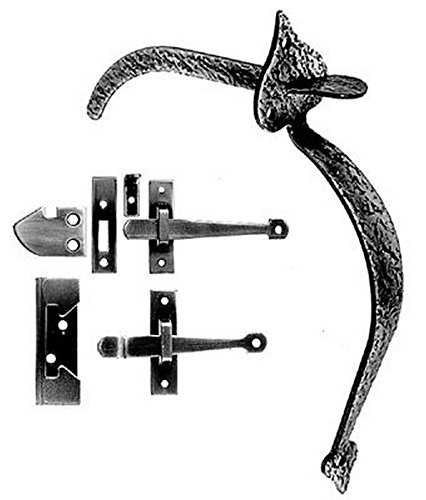 Acorn Manufacturing RUEBR Thumb Latch Set for RU4BR/RU5BR, Black Iron Finish -