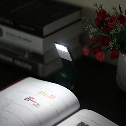 Luz de libro, luz de lectura LED Lámpara de lectura flexible recargable de 4 niveles y brillo USB, clip para Kindle, libro, ipad y más: Amazon.es: ...