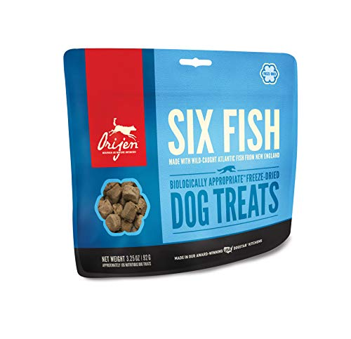 ORIJEN Freeze-Dried Dog Treats, Six Fish, Biologically Appropriate & Grain ()