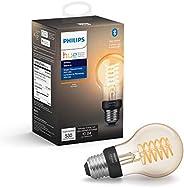 Philips Hue White Filament A19 Smart Vintage LED bulb, Bluetooth & Hub compatible (Hue Hub Optional), voic