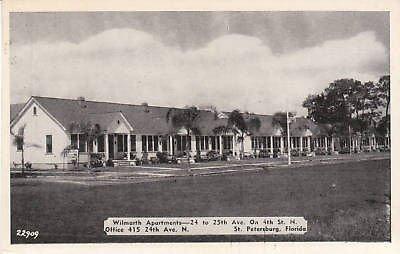 D9980 FL, St. Petersburg Wilmarth Apartments Postcard (Linen Petersburg)
