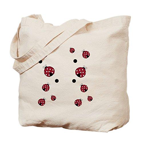 (CafePress - Modern Ladybug Flip Flops - Natural Canvas Tote Bag, Cloth Shopping Bag)