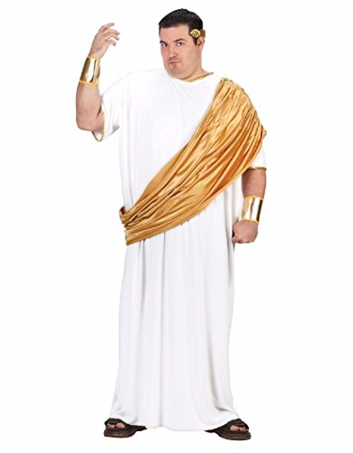 Roman Soldier Adult Mens Plus Size Costumes (Hail Caesar Emperor Roman Greek Toga Adult Costume Plus Size)