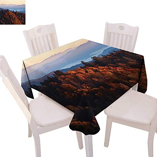National Parks Stain Resistant Wrinkle Tablecloth Sunrise at