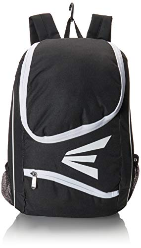 EASTON E50BP Bat & Equipment Backpack Bag | Baseball Softball | 2019 | Black | 2 Bat Sleeves | Large Gear Compartment | Zippered Valuables Pocket | Fence Hook for - Kids Bag Easton
