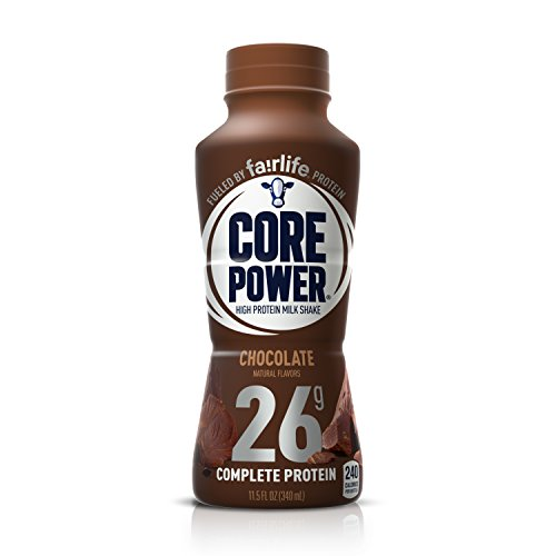 Power Shake - Core Power by fairlife High Protein (26g) Milk Shake, Chocolate, 11.5 fl oz bottles, 12 count