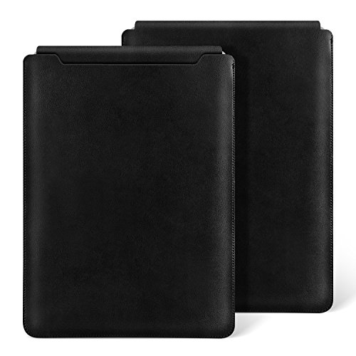Ayotu MacBook Air 11 inch Leather Sleeve Case,Waterproof Sleek Leather Soft Sleeve Case Cover Bag for MacBook Air 11 inch(A1370/1465) Retro Black