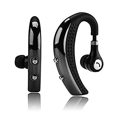 SQdeal® Rechargeable Ear-Hook Bluetooth Stereo Headset Wireless Earpiece Earphone Headphone for iPhone 6/5/5c/5s, Samsung Galaxy S5/S4/S3, Note 4 3, LG, HTC ONE,Android Phone and Other Bluetooth Devices - Music,Microphone,Noise Cancelling and Voice Guida