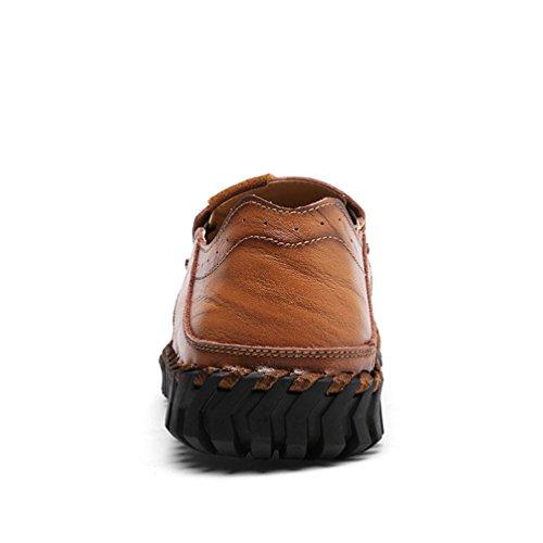 Conducción Moda Zapatos Planos Negocio Hombre Rojo Dooxi marrón Cómodos de Loafer Casual Mocasines Zapatos pPwBqY1