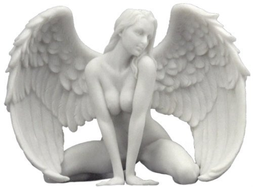 6.5 Inch Nude Sexy Female Angel Statue Collectible Erotic Naked Woman w Wings