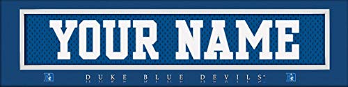 Duke Blue Devils College Jersey Nameplate Wall Print, Personalized Gift, Boy's Room Decor 6x22 Unframed ()