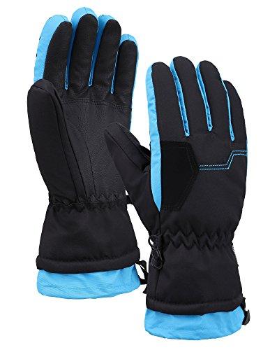 Lullaby Kids Waterproof Winter Gloves Thinsulate Lining Snowboard Ski Gloves ()