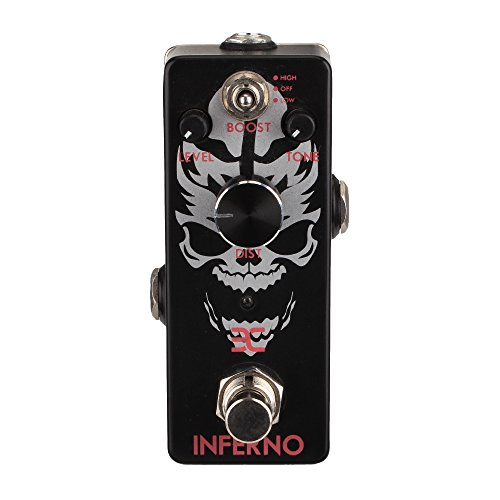 EX-Inferno Metal Distortion Pedal Mini Format for Shrill Metal Leads Deep Punchy Distortion or Total Metal Chunk - Metal Distortion Mini Effects Pedal