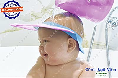 Walnut Tree Omni Bath Shower Visor Protection Soft Cap for Shower and Bath Time Safety for Toddlers, Baby and Children