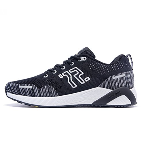 Yidiar Womens Athletic Speed Trail Scarpe Da Corsa Winter Spring Walking Jogging Sport Su Strada Sneakers Da Ginnastica Nero / Bianco