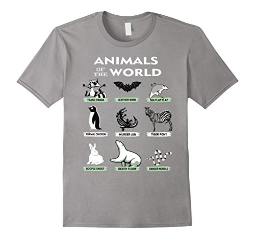 676f2c2d Galleon - Animals Of The World T-Shirt Funny Animal Real Names