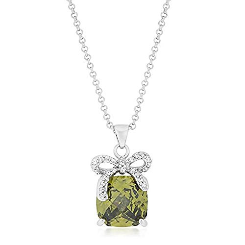 Freedom Fashion Olivine Pendant with Bow