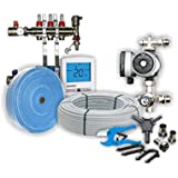 50sqm Multi-Zone Wet Underfloor Heating Kit, 3 zone, Heatmiser, Grundfoss & Rifeng products, 50 year Guarantee