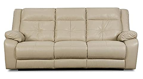 Simmons Upholstery Miracle Pearl Bonded Leather Double Motion Sofa - Upholstery Living Room Furniture
