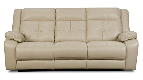 Simmons Upholstery Miracle Pearl Bonded Leather Double Motion Sofa