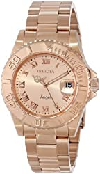 Invicta Women's INVICTA-14322 Angel Analog Display Swiss Quartz Rose Gold Watch