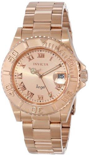 Invicta Women's INVICTA-14322 Angel Analog Display Swiss Quartz Rose Gold Watch