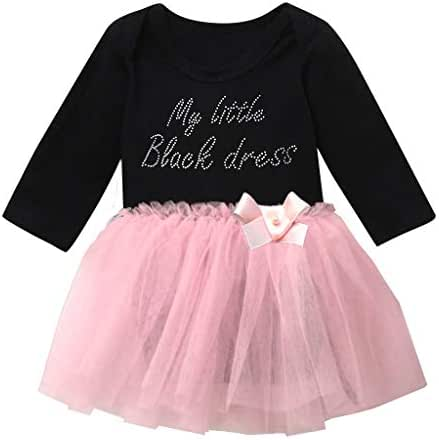 Toddler Baby Girls Cotton Party Tulle Tutu Princess Layered Dress Clothes Outfits Set (3Years-10Years)