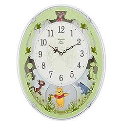 Disney ( rhythm clock ) Winnie the Pooh M523 ( radio Amuse clock ) white 4MN523MC03