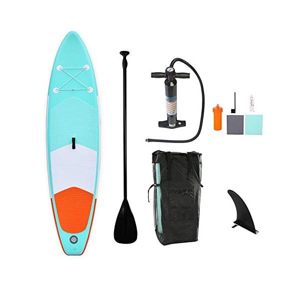 Stand Up Paddel Gonfiabile Double Layer gonfiabile SUP Stand Up Paddle Board con Paddle Carry Bag Kit di riparazione e… 1 spesavip