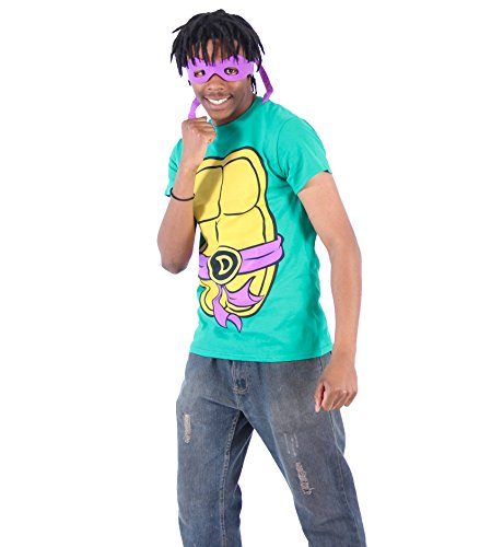 TMNT Teenage Mutant Ninja Turtles Donatello Costume Green T-shirt with Purple Eye Mask (Adult XX-Large) for $<!--$15.95-->