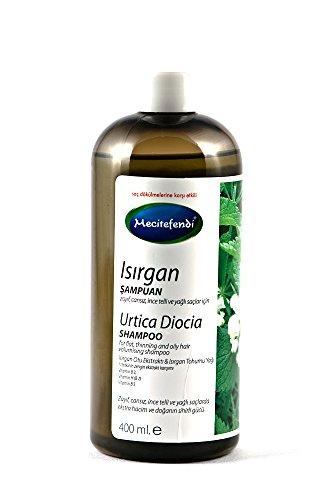 Mecitefendi ortie shampooing 400ml / 13.53 Fl Oz, idéal pour les cheveux très mince, sans vie, huileux et aide à prévenir la perte de cheveux