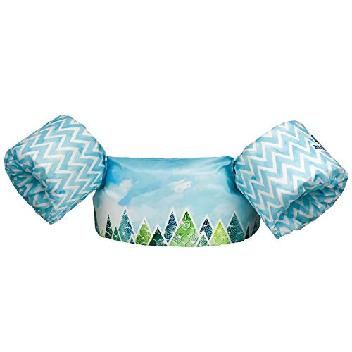 Blue Mars Kids Swim Vests, Floaties for Toddler Girls and Boys from 20 to 50 Pounds, Children Swimming Pool Float with Arm Wings Baby Puddle/Sea Beach Jumper (Magic Forest)