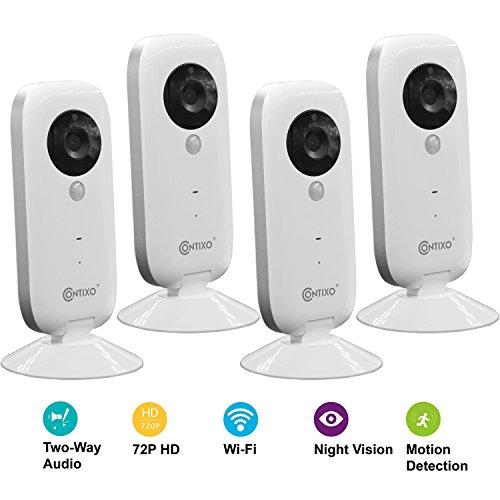 Contixo E1 Baby/Security Surveillance HD 720P WiFi Camera W/Full App Control, Night Vision 2-Way Audio, 100°...
