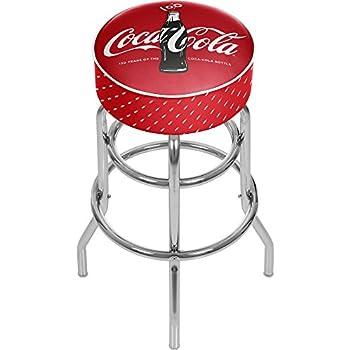 Sgabelli Coca Cola.Amazon Com Coca Cola Padded Swivel Bar Stool Sports Outdoors