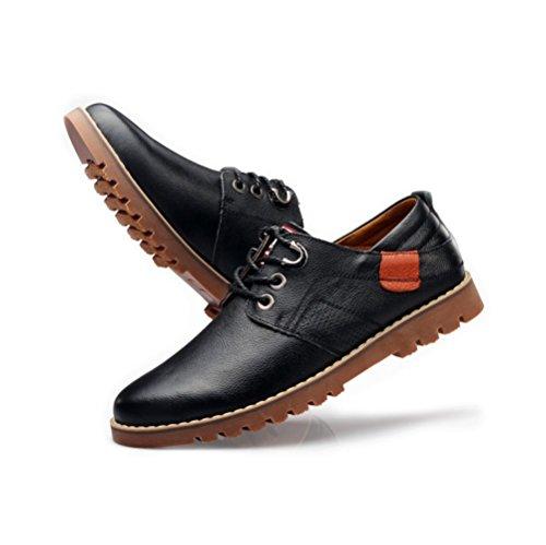 Chaussures Professionnelles De Bureau d'affaires des Hommes Chaussures en Cuir De Ressort Black AJm1m