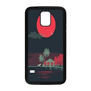 Cases for Samsung Galaxy S5, Moon Scene Cases for Samsung Galaxy S5, Vinceryshop Black