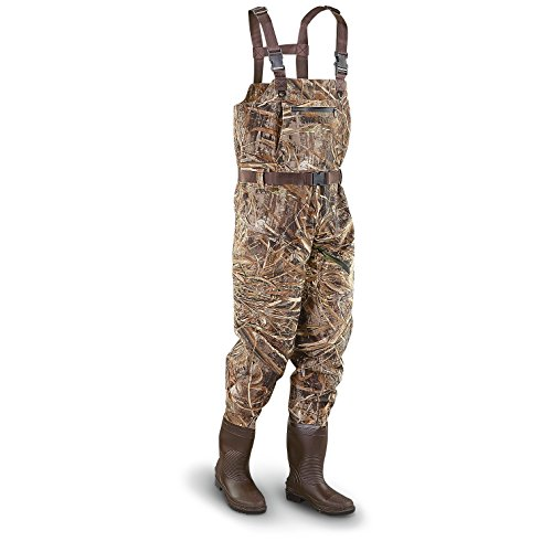 Guide Gear Steel Creek Men's Camo Hunting Chest Waders Realtree Max-5, Realtree Max-5, 11D