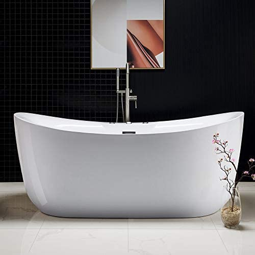 Woodbridge 71″ x 31.5″ Water Jetted and Air Bubble Freestanding Bathtub