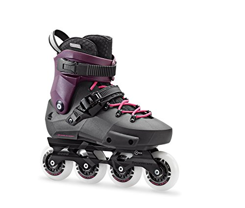 Aluminum Outdoor Hockey Set - Rollerblade Twister Edge Women's Adult Fitness Inline Skate, Black and Purple, High Performance Inline Skates