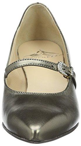 Diavolezza KATE 7500 - Zapatos de vestir de ante para mujer Plateado - plateado (plateado)