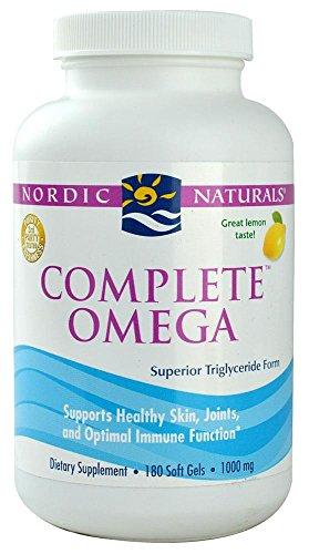 Nordic Naturals, Complete Omega, citron, 1 000 mg, 180 Gels mous
