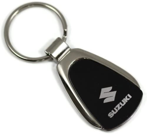 dantegts Suzuki Logo Noir Goutte deau porte-cl/és porte-cl/és en m/étal chrom/é Cordon porte-cl/és