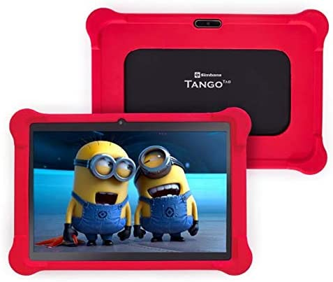 [4 Bonus Item] Simbans TangoTab 10 Inch Kids Tablet with RED Bumper Case 2020 Model, 3 GB RAM, 64 GB Disk, Android 9 Pie, WiFi, USB, HDMI, Bluetooth, 2+5 MP Camera Computer PC – TK93
